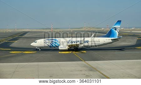 Egyptair Boeing 737-800 At The New Istanbul Airport, Istanbul Havalimani In Turkey