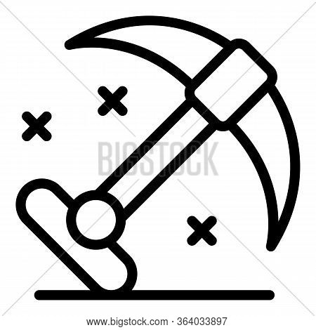 Double Sided Climbing Hook Icon. Outline Double Sided Climbing Hook Vector Icon For Web Design Isola
