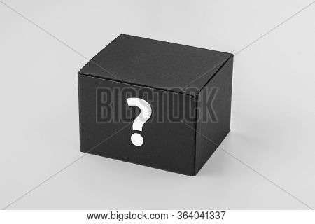 Opened White Cardboard Box Mockup On White Background, Top View