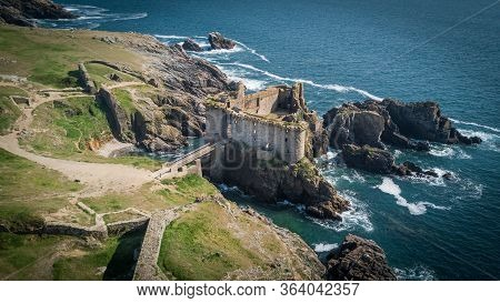 The Ruins Of The Old Castle In Yeu Island, French West Coast Which Might Inspired Hergé To Think Abo