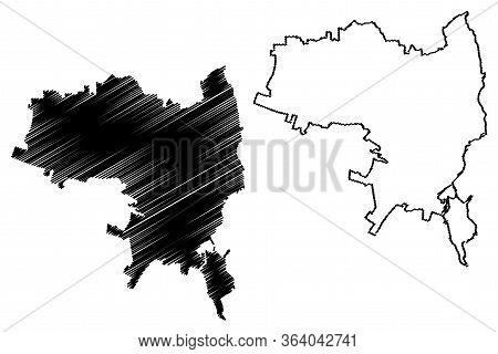 Syracuse City (italian Republic, Italy, Sicily) Map Vector Illustration, Scribble Sketch City Of Syr