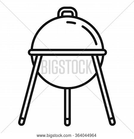 Bbq Equipment Icon. Outline Bbq Equipment Vector Icon For Web Design Isolated On White Background