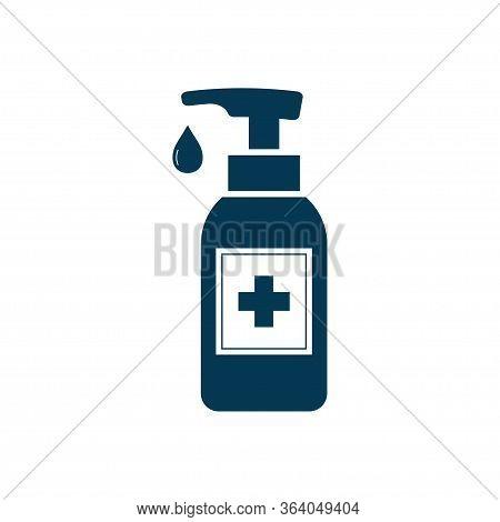 Hand Sanitizer Icon Isolated On White Background. Vector Illustration
