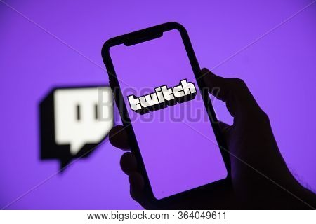 London, Uk - April 30 2020: Twitch Game Live Streaming Logo On A Smartphone