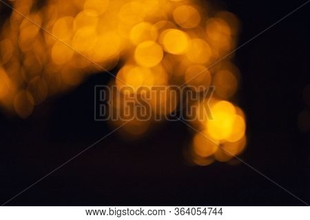 Blue And Orange Light Bokeh