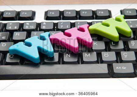 Letras WWW no teclado