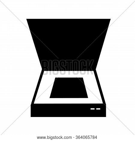Scanner Icon On White Background. Flat Style. Document Scanner Icon For Your Web Site Design, Logo,