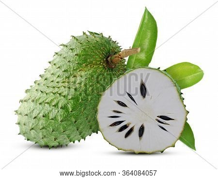 Soursop Or Custard Apple Isolated On White Background