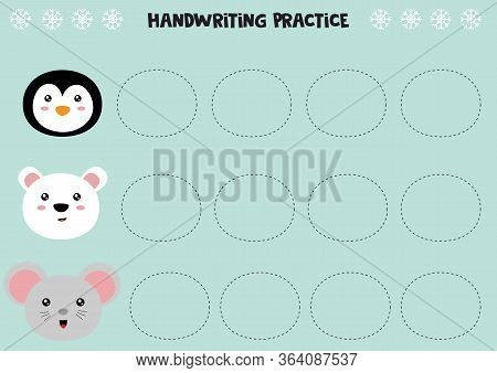 Educational Worksheet For Preschool Kids. Handwriting Practice. Trace Lines, Trace Animals.