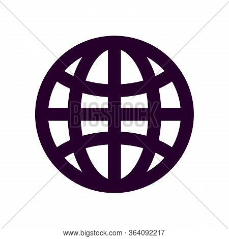Globe Icon Isolated On White Background, Globe Icon Eps10, Globe Icon Vector, Illustration Vector De