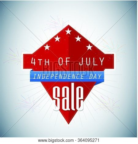 Fourth Of July Sale Banner Or Poster