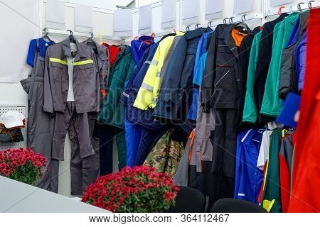 Wide View Of  Wear Clothes, Dresses, Skirts, Trousers, Jackets, Shoes With Shelves, Racks And Hanger