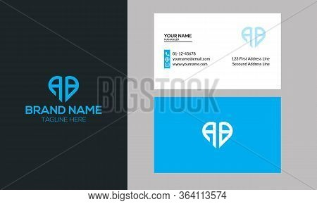 Simple Business Card Is Red Black With Ab Logo Letter Modern Clean Vector Design. Ab Logo Can Be Use