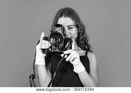 Professional Camera. Education For Reporters And Journalists. Editing Photos. Manual Settings. Girl
