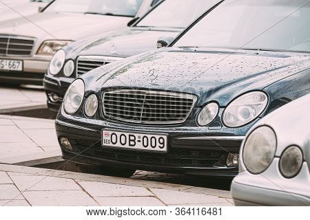 Batumi, Georgia - May 27, 2016: Different Cars Mercedes-benz E-class W210 And W211 Parked In Row In
