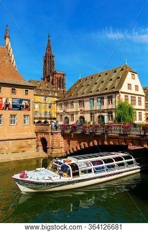 Cityscape Of The Grande Ile In Strasbourg, France