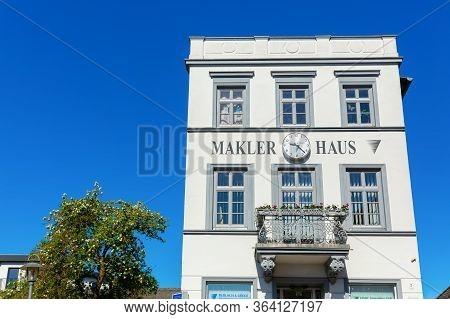 Old Building In The City Center Of Bergen Auf Ruegen, Germany