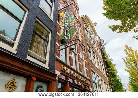 Hash, Marihuana And Hemp Museum In Amsterdam, Netherlands