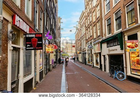Street View In Amsterdam, Netherlands