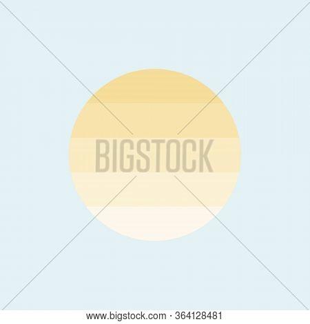 Sun Hot Flat Style Icon Vector Illustration Eps 10