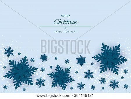 Merry christmas and happy new year snowflakes on white background. Merry christmas greeting card vector background. Merry christmas and happy new yearWinter season, merry christmas, new year, happy holiday card background. Snowflake template graphic desig