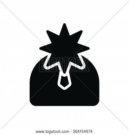 Black Solid Icon For Celebrity Magnate Sachem Fame Repute