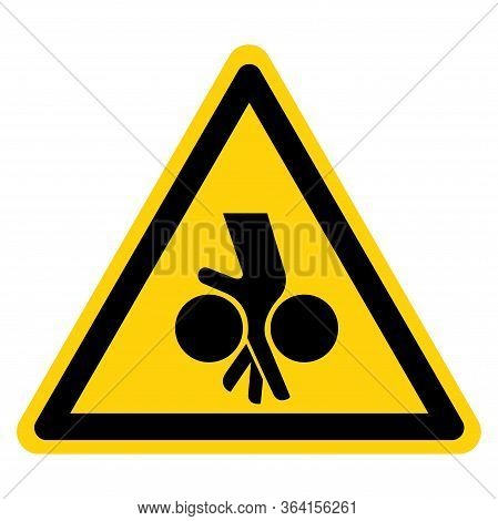 Warning Moving Equipment Can Cause Severe Injury Symbol Sign ,vector Illustration, Isolate On White
