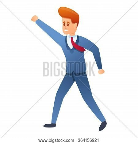 Young Entrepreneur Icon. Cartoon Of Young Entrepreneur Vector Icon For Web Design Isolated On White