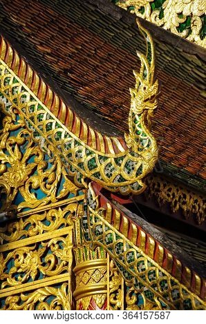 Details Of Wat Phrathat Doi Suthep Temple In Chiang Mai, Thailand.