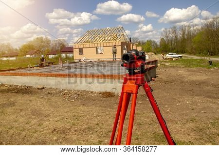 A Device For Geodesic Surveying For Cadastral Work At A Construction Site