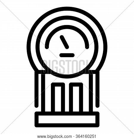 Electric Meter Icon. Outline Electric Meter Vector Icon For Web Design Isolated On White Background