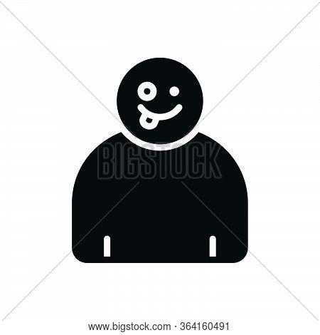 Black Solid Icon For Crazy Capricious Rapturous