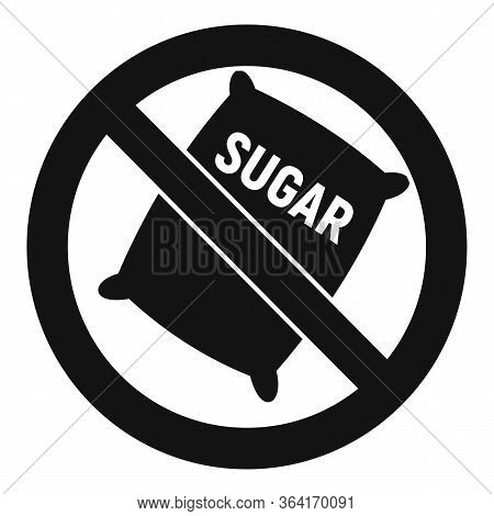 No Sugar Sack Icon. Simple Illustration Of No Sugar Sack Vector Icon For Web Design Isolated On Whit