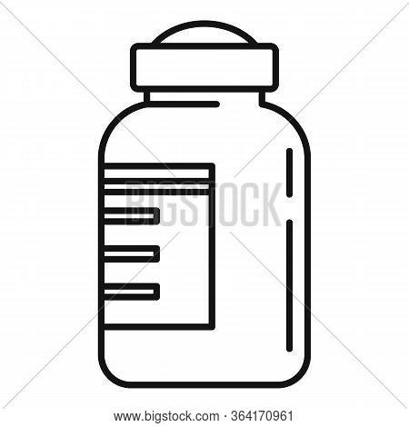 Insulin Bottle Icon. Outline Insulin Bottle Vector Icon For Web Design Isolated On White Background