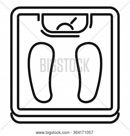 Man Scales Icon. Outline Man Scales Vector Icon For Web Design Isolated On White Background