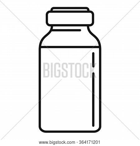 Insulin Dose Bottle Icon. Outline Insulin Dose Bottle Vector Icon For Web Design Isolated On White B