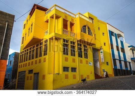 Ponta Do Sol/cape Verde - August 12, 2018 - Streets And Yellow House In Santo Antao Island