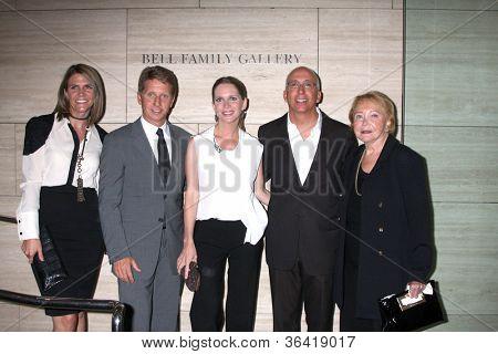 LOS ANGELES - AUG 23:  Colleen Bell, Bradley Bell, Lauralee Bell, Bill Bell, Jr; Lee Phillip Bell  arrive at