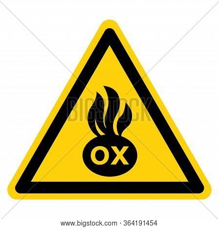 Warning Oxidizing Materials Sign ,vector Illustration, Isolate On White Background Label. Eps10