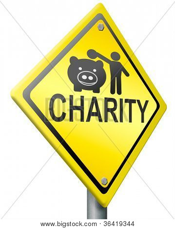 charity road sign clipping path raise money to help donate gifts fund raising give a generous donation or help with the fundraise fundraising