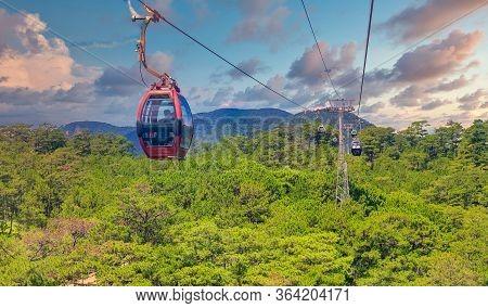 Dalat, Vietnam - 1.02.2020 Dalat Cable Car At Robin Hill, Vietnam