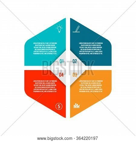 4 Step Infographic Design Template Creative Concept