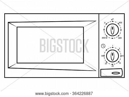 Microwave Icon. Microwave Symbol In Outline Style, Modern, Simple Vector, Icon For Website Design, M