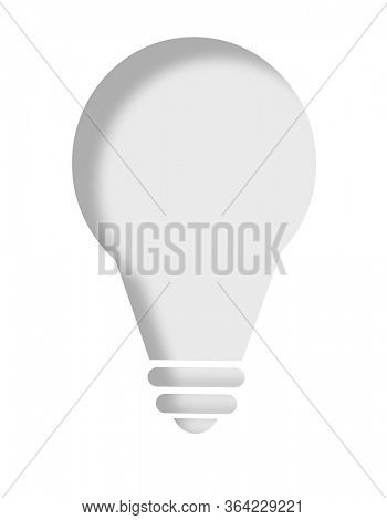 White light bulb with paper cut effect