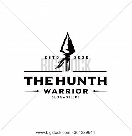 Arrowhead Spear Hunting Hipster Logo Design Vintage Hipster Retro