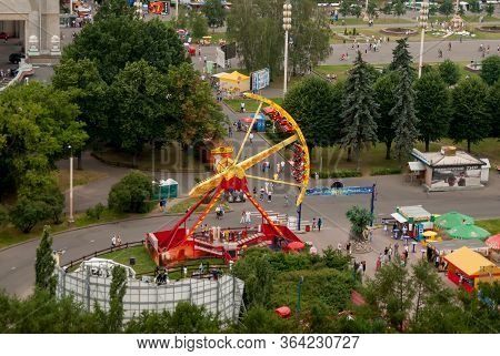 Moscow, Russia - July 3, 2010: Amusement Park On Vdnh