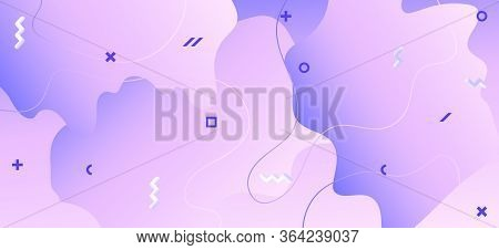 Pastel Purple Background. Violet Geometric Pattern. Flow Booklet. Futuristic Decoration. Gradient Su