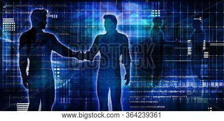 Technology Mergers And Acquisitions in a Business Handshake