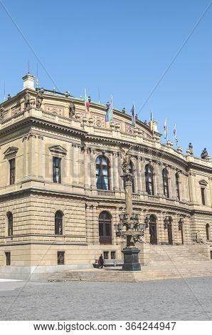 Prague, Czech Republic - April 23, 2020: Historical Neo-renaissance Style Building Of Rudolfinum, Co
