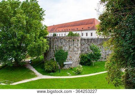 Buiding In Garden Outside Of Linz Austria